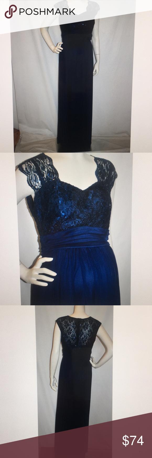Long navy lace chiffon maternity dress plus x boutique my posh