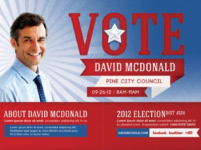 Voting Election Mailer Door Hanger Template – Election Brochure