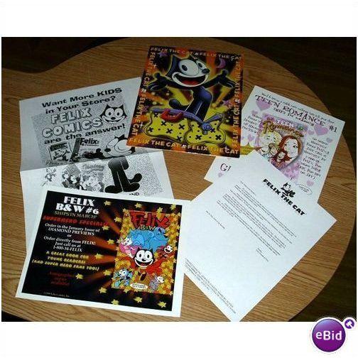 RARE 1998 FELIX THE CAT COMIC BOOK PROMO FOLDER/POSTER Listing in the Posters,Comics,Books, Comics  & Magazines Category on eBid United States | 28624635