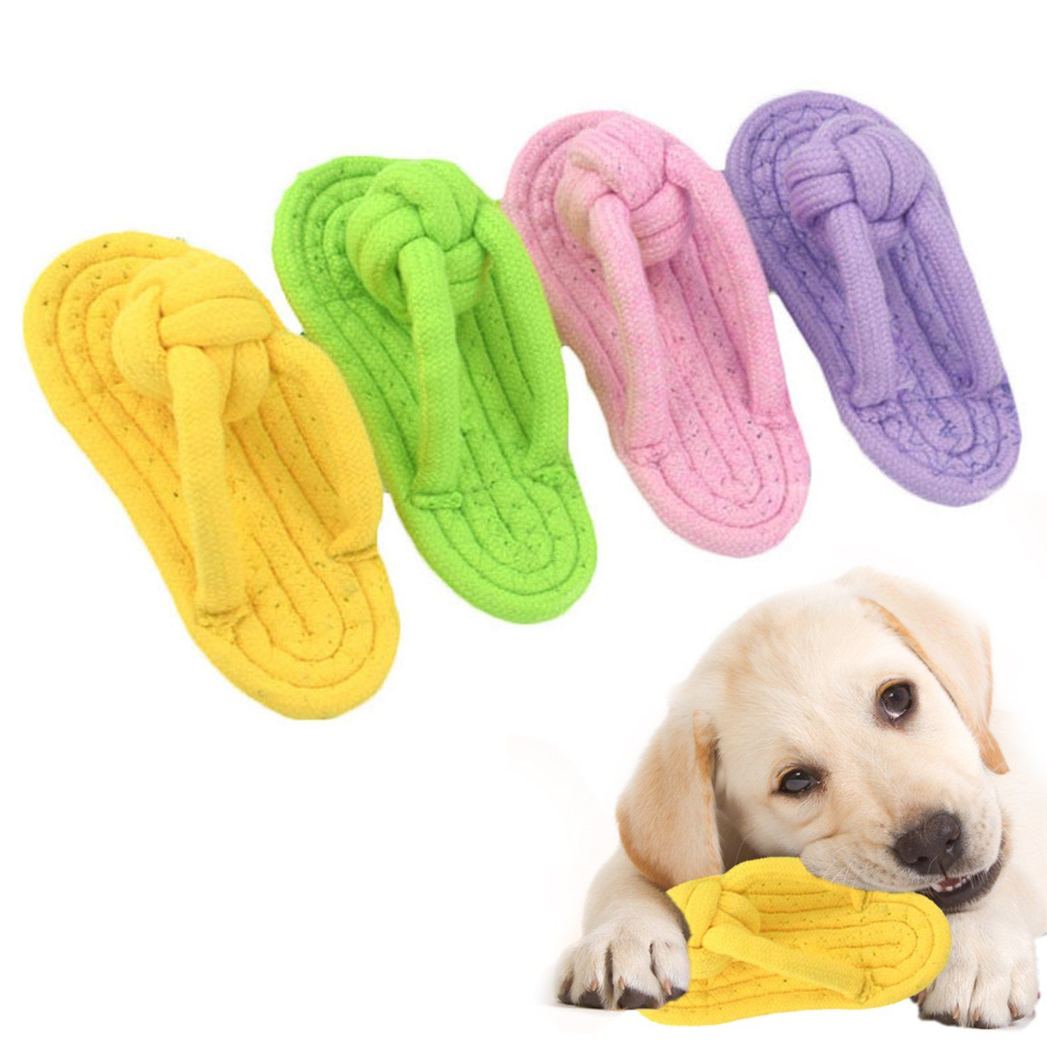 Pet Chew Toys Slipper Shaped Shoes Natural Cotton Rope In 2020 Puppy Toys Teething Puppy Teething Dog Toys
