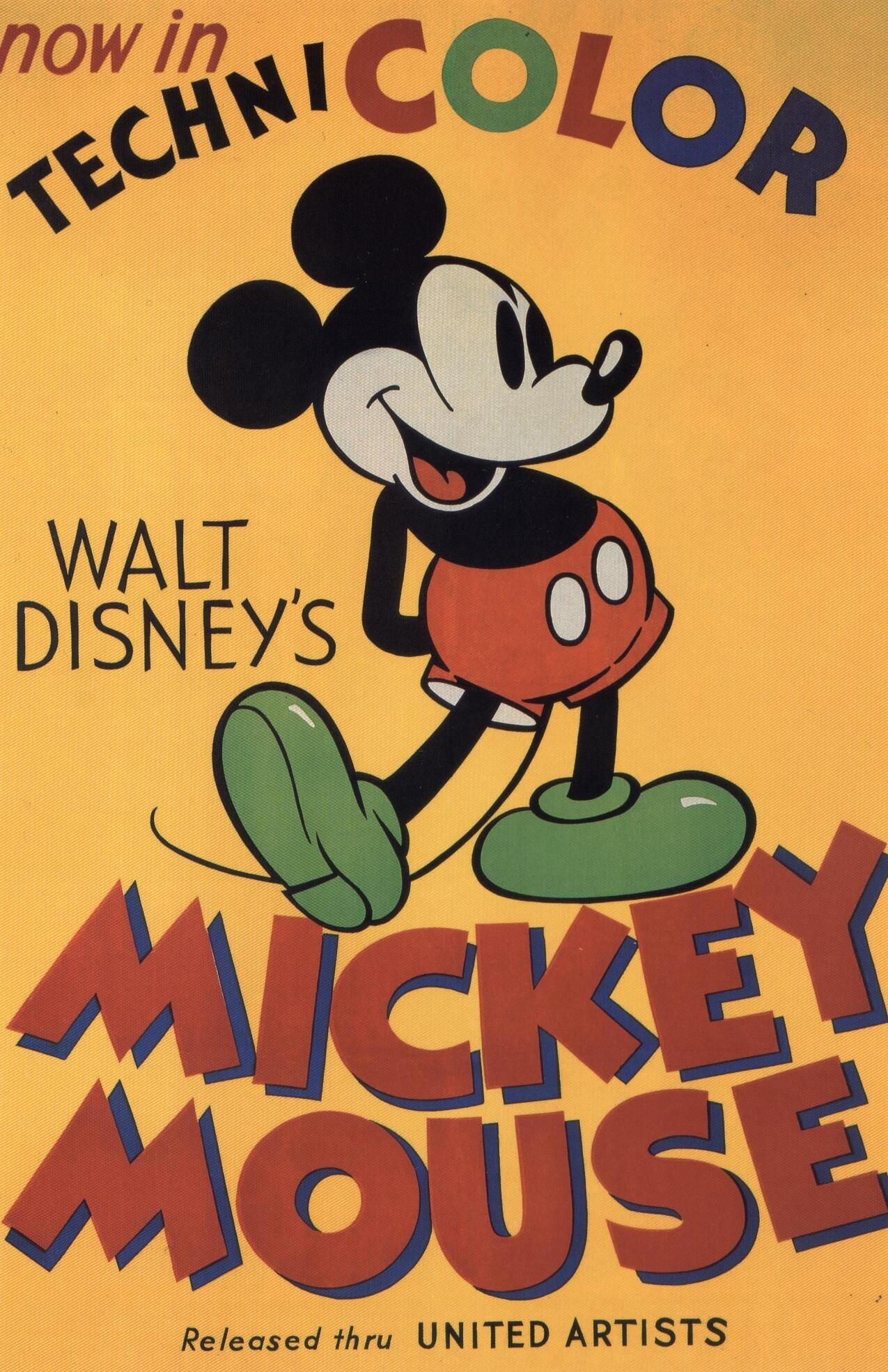Mickey Mouse Awesome Vintage Disney Posters The Colors Pop To Life Vintage Disney Posters Classic Disney Movies Disney Posters