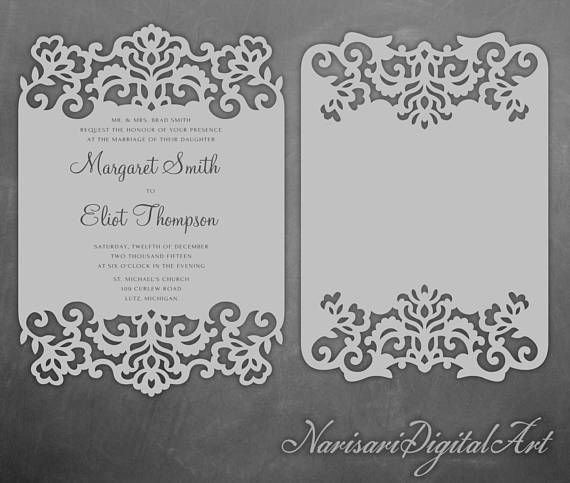Laser cut lace cards 5x7 wedding invitation frame pattern template laser cut lace cards 5x7 wedding invitation frame pattern template quinceanera svg stopboris Images
