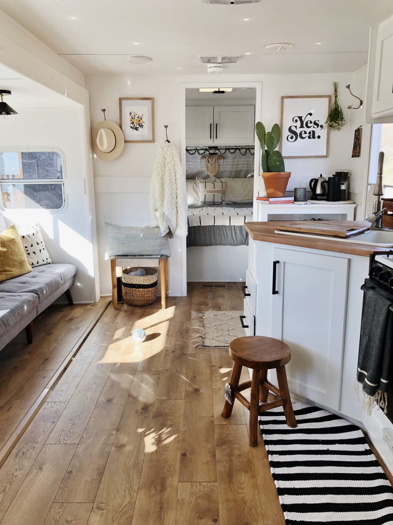 A Family Of Five Shares Small Stylish 180 Square Foot Rv