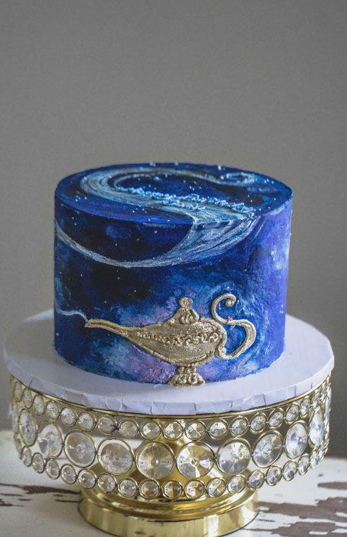 Aladdin inspired buttercream cake
