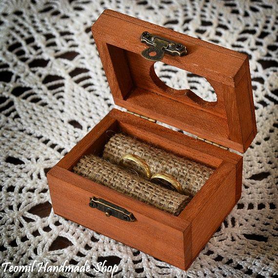 Rustic Wedding Ring Box Wooden Ring Box Ring Bearer Box