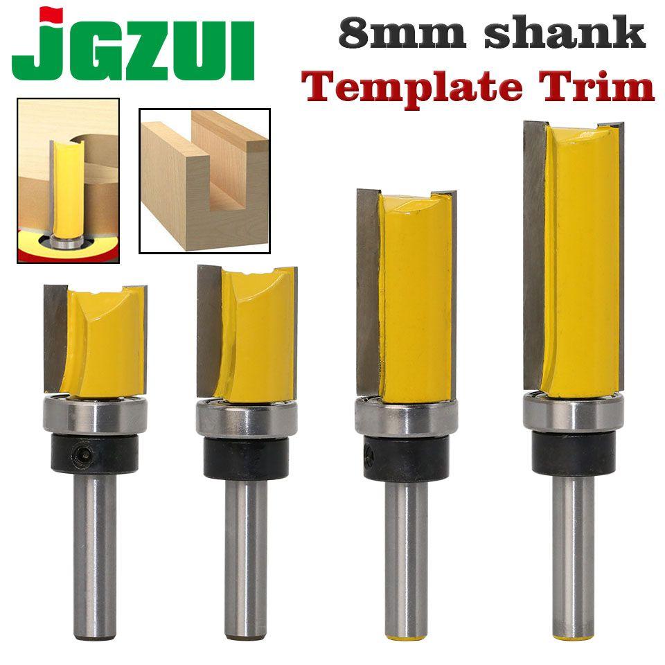 8mm Straight Shank Router Bit Extra Long Trim Tenon Woodwork Cutter Tool