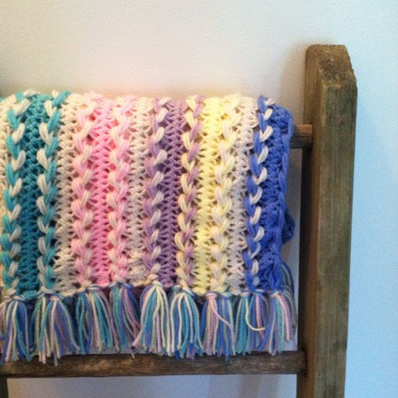 Hairpin Lace Baby Afghan | Apapachos | Pinterest | Horca, Crochet ...