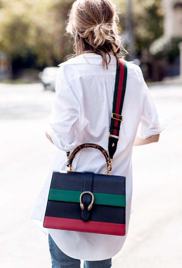 bad15fe03b3b Gucci Dionysus Striped Bamboo Top Handle Bag ~ 2016 | Gucci Handbags ...