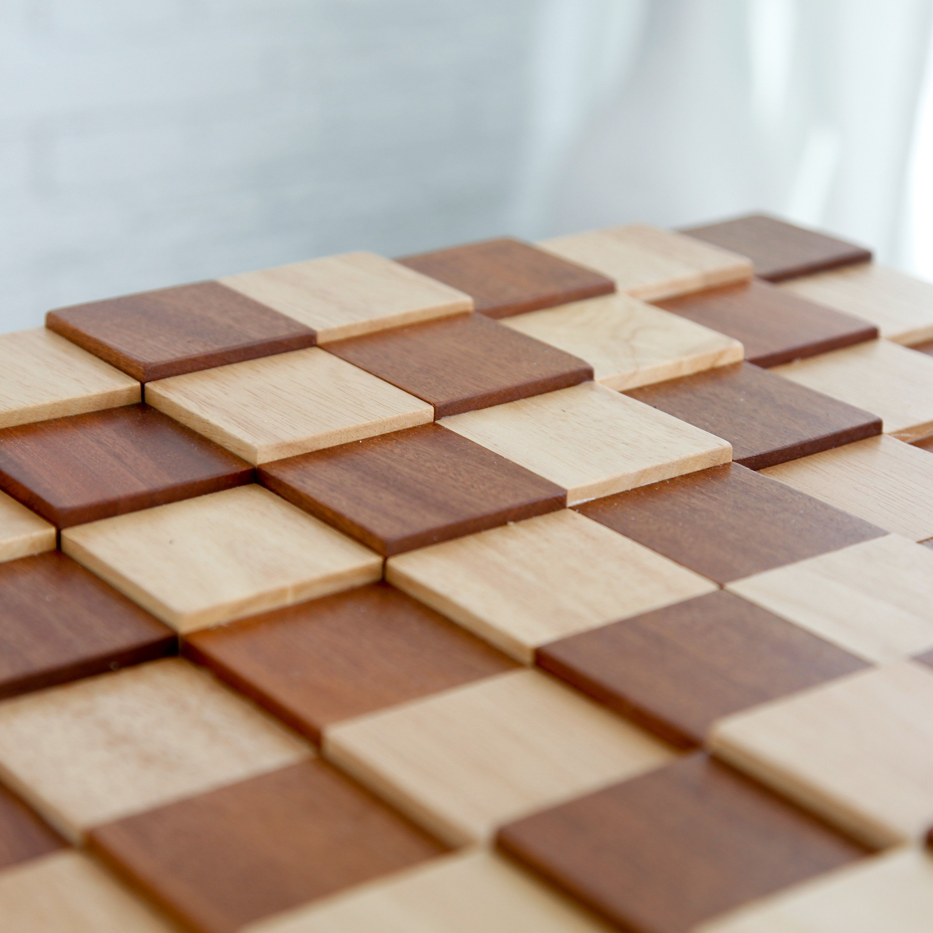 Have To Have It 3d Tiered Solid Sapele Wood Chess Board