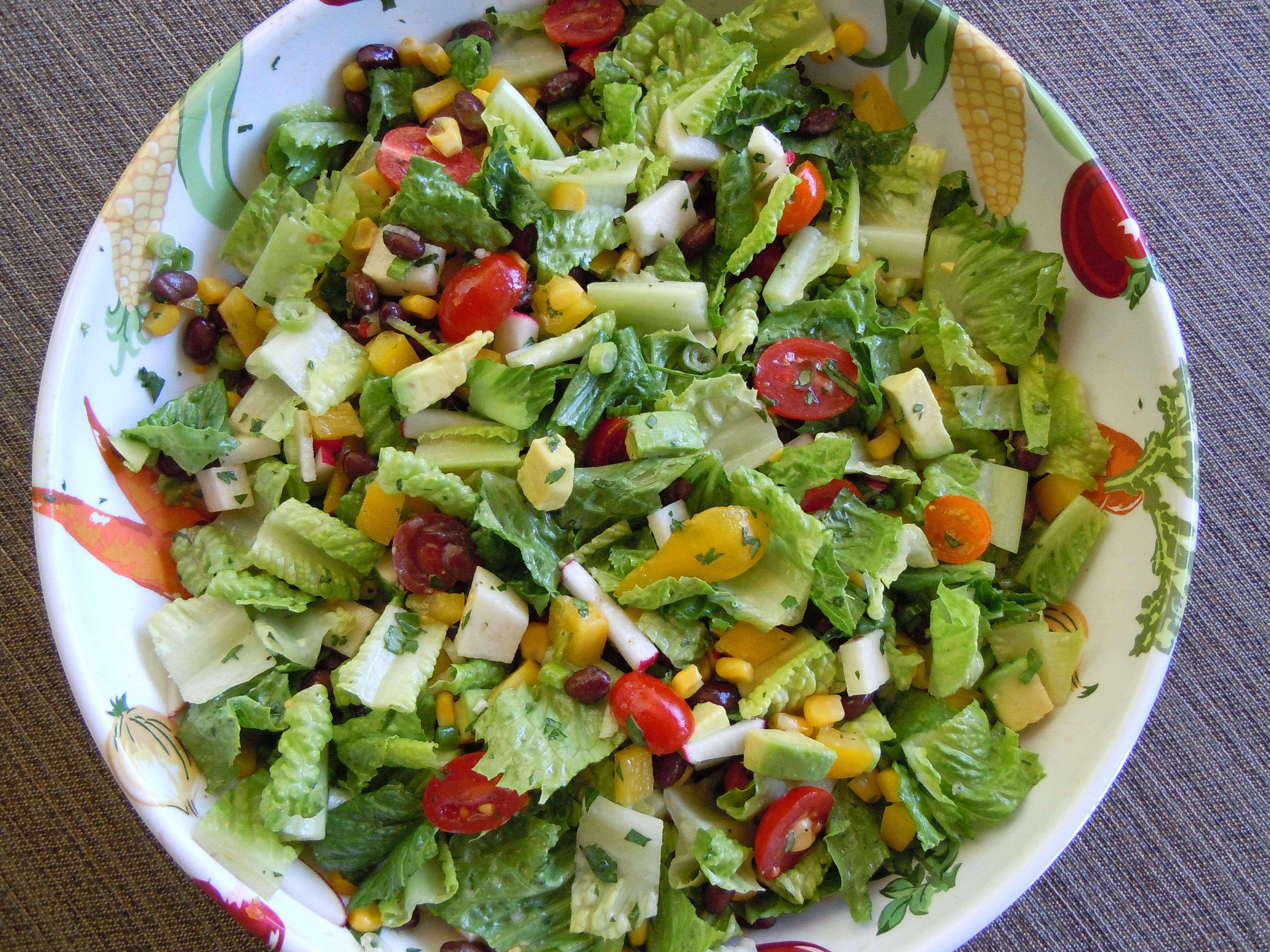 Mexican Chopped Salad with Cilantro-Lime Dressing