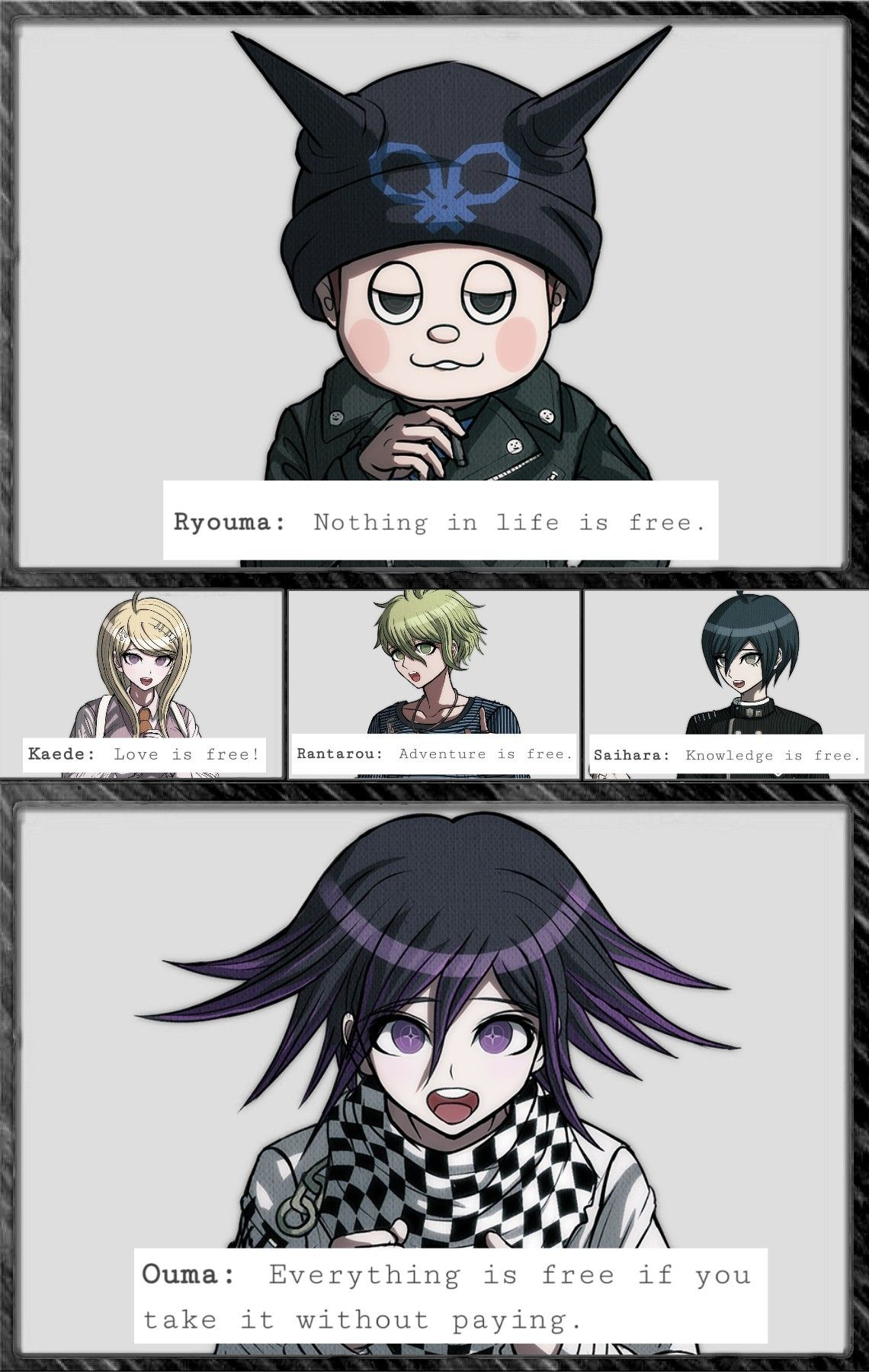 Life lessons with Ndrv3 characters!