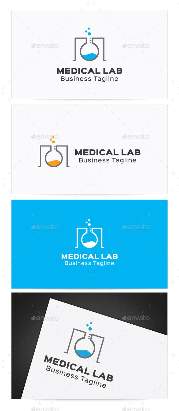Medical Lab LogoRe sizable Vector EPS and Ai PSD 6250*4167