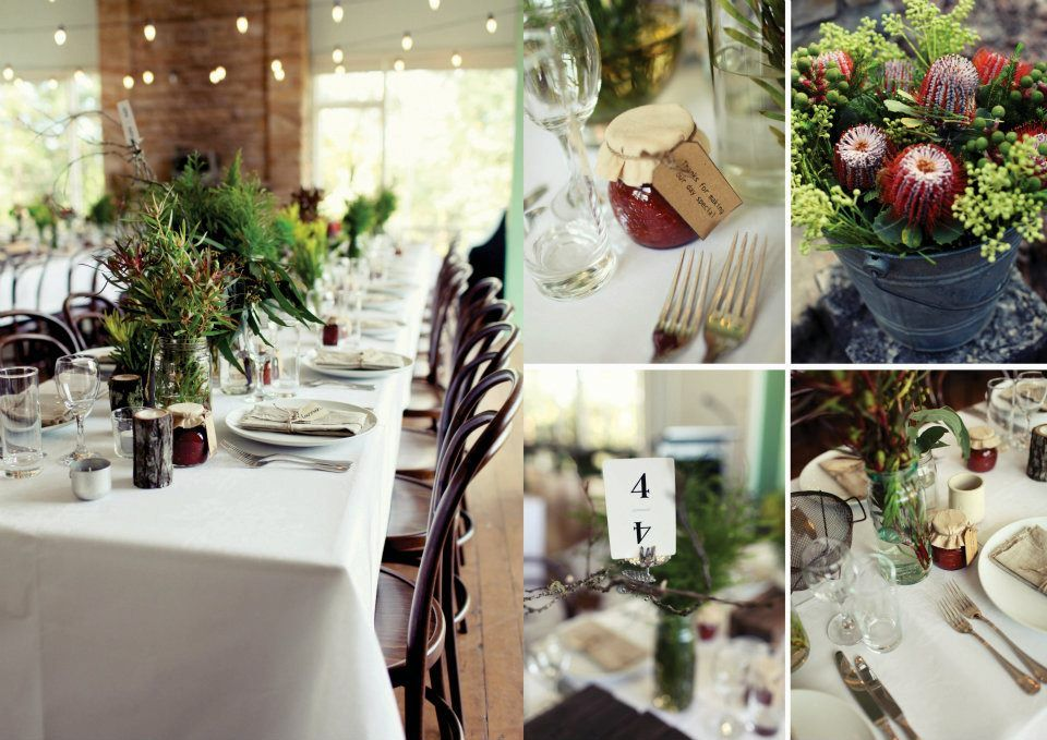 Rustic Australian Bush Wedding Table Decorations By Hannah Blackmore Photography Bush Wedding Event Decor Rustic Wedding Inspiration