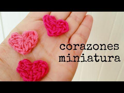 Cómo hacer un CORAZÓN Mini a Crochet - Paso a Paso, My Crafts and DIY Projects