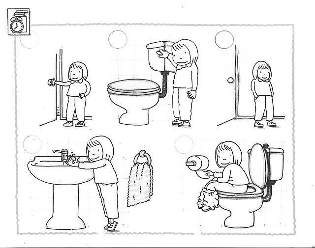 Tuvalet Eğitimi Boyama Sayfasıokul öncesi Tuvalet Boyamatuvalet