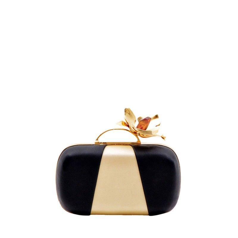 91731df0fd Thale Blanc Single Orchid Clutch - Black Clutch | Bag It! | Bags ...