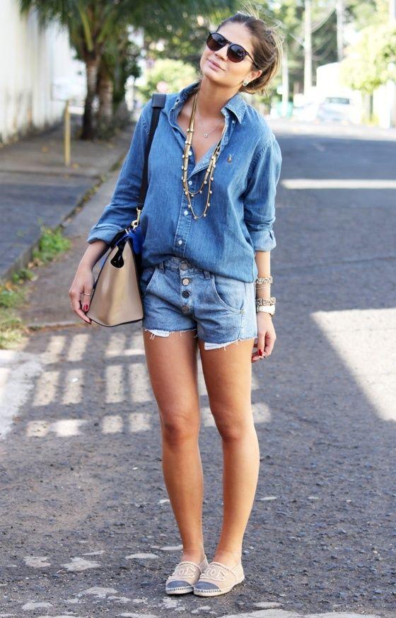 340bbc945a20 Thassia Naves a Blogueira das blogueiras! | Denim blouse | All jeans ...