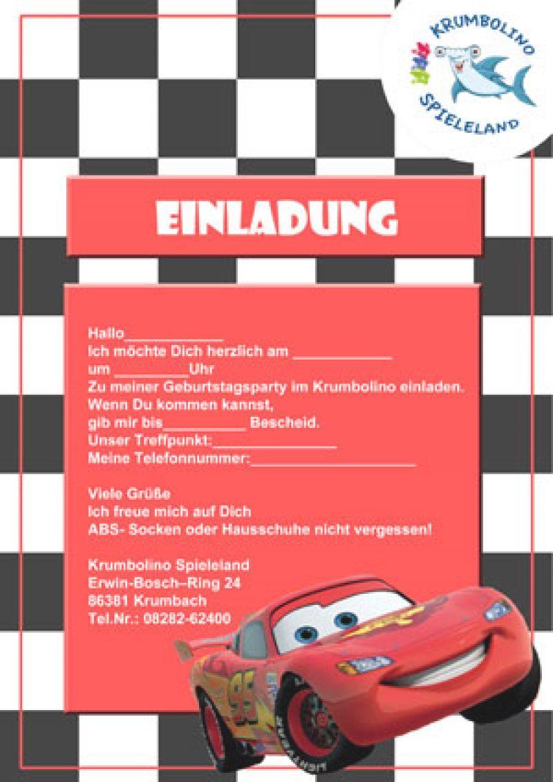 Cars Einladungskarten Vorlagen Einladungskarten Kindergeburtstag Einladung Kindergeburtstag Einladungen