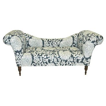 Check out this item at One Kings Lane! Cameron Tufted Chaise, Smoke/White