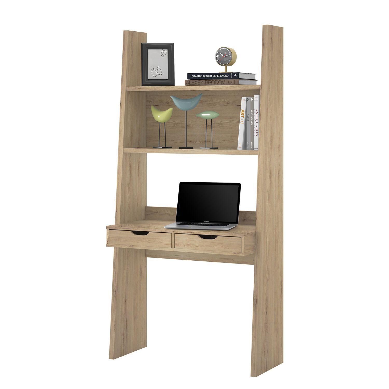 Regal Schreibtischkombination Verno Eiche Sanremo Dekor Home24