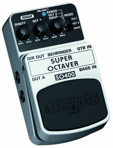 behringer so400 super octaver ultimate octaver effects. Black Bedroom Furniture Sets. Home Design Ideas