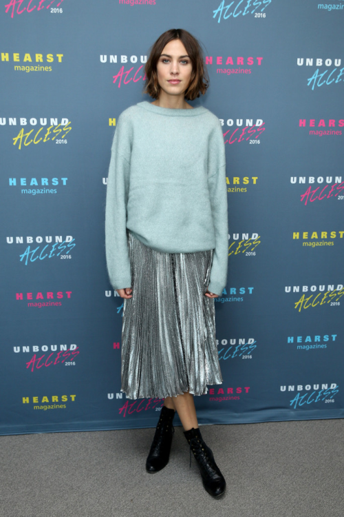 daiilycelebs 10 26 15 alexa chung at the hearst. Black Bedroom Furniture Sets. Home Design Ideas