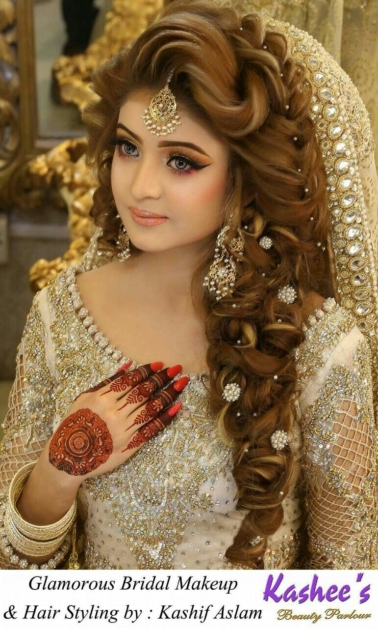 Pakistani bridal hairstyles image by sareena kiyani on my