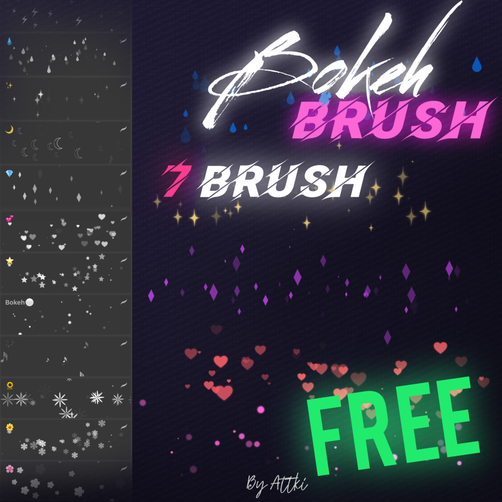 FREE anime bokeh brushes in 2020 Free anime, Free brush