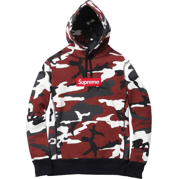 840f9aef1693 Supreme Camo Box Logo Hoodie ( 445) ❤ liked on Polyvore featuring tops