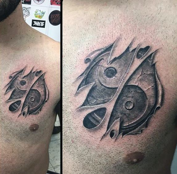 60 Yin Tang Tattoos For Men - Contrasting Chinese Designs ...
