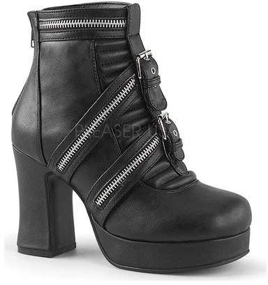 3c9597b0068 Demonia Women s Gothika 50 Ankle Boot - Black Vegan Leather Boots ...