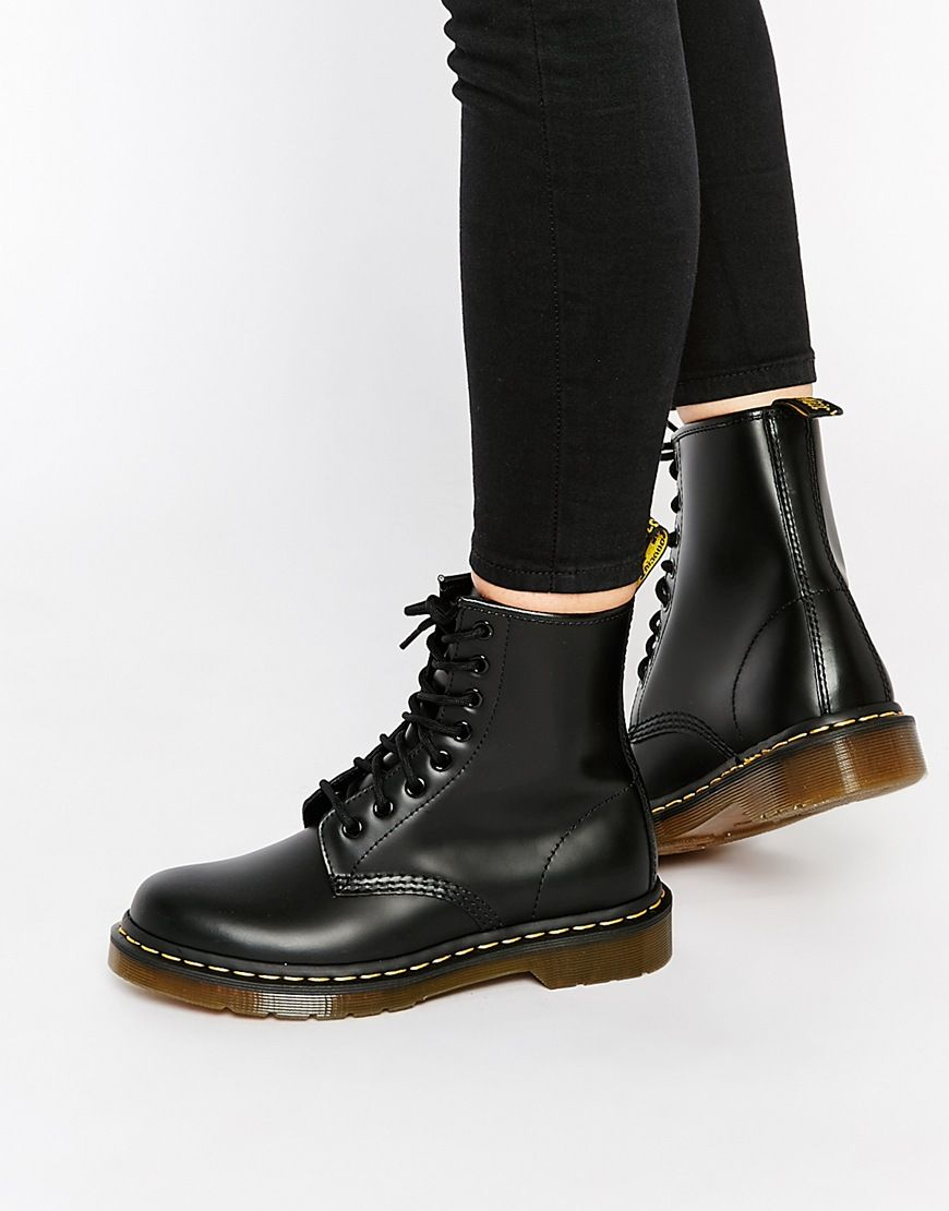 dr martens 1460 8 eye smooth boots, Dr Martens Womens Shoes