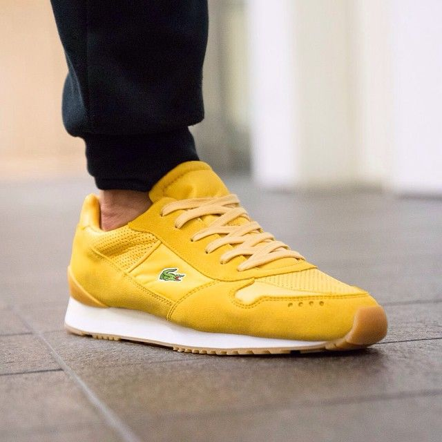 Lacoste Trajet Yellow White Gum The Lacoste Trajet is a runner with a retro  look,