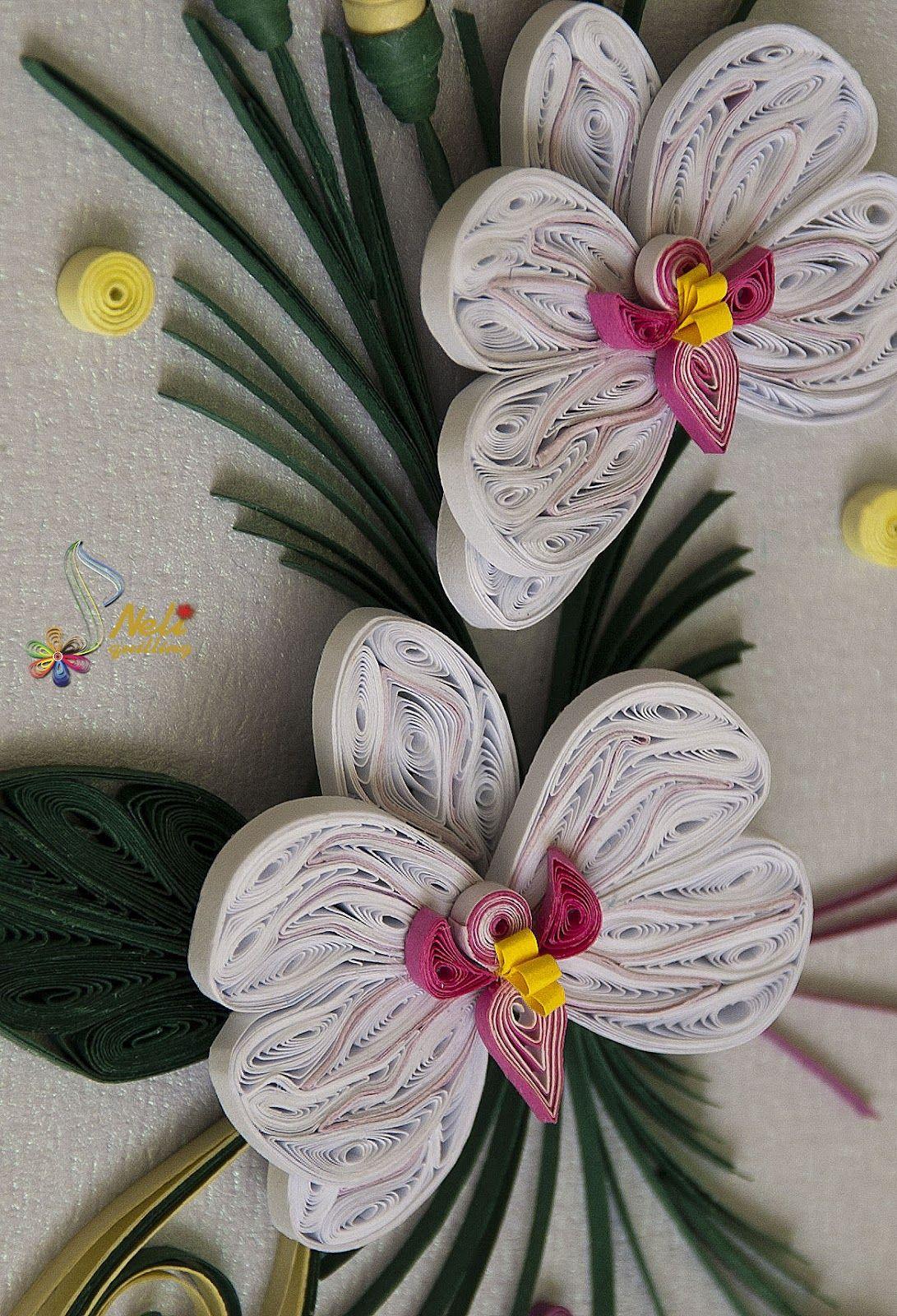 орхидея квиллинг фото изображения