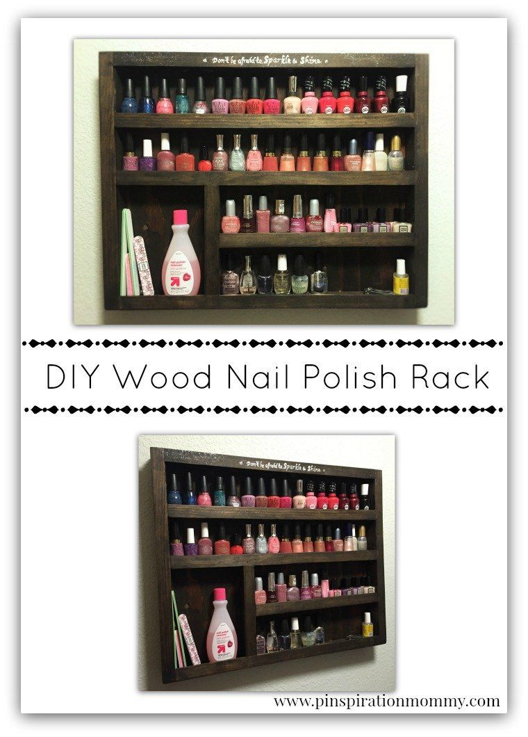 DIY Wood Nail Polish Rack – Free plans! | Wood nails, Diy wood and Woods