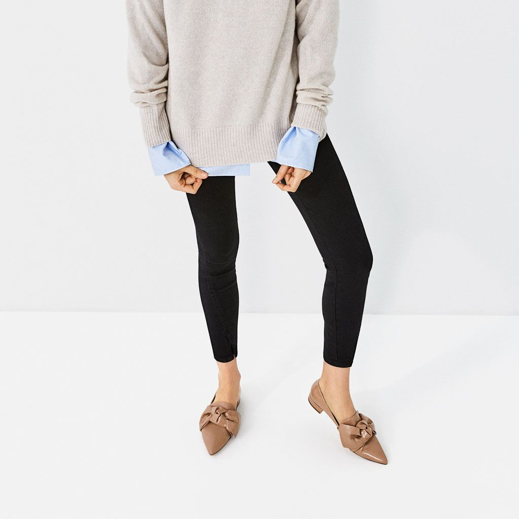 zara woman combined office. FLAT SHOES WITH BOW DETAIL - View All-SHOES-WOMAN Zara Woman Combined Office H