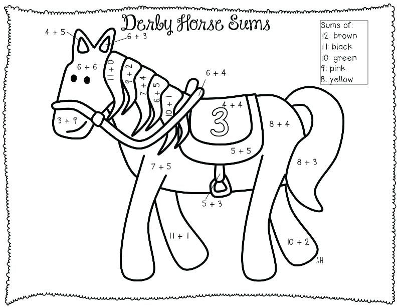 Math Coloring Pages Addition worksheets, Coloring pages