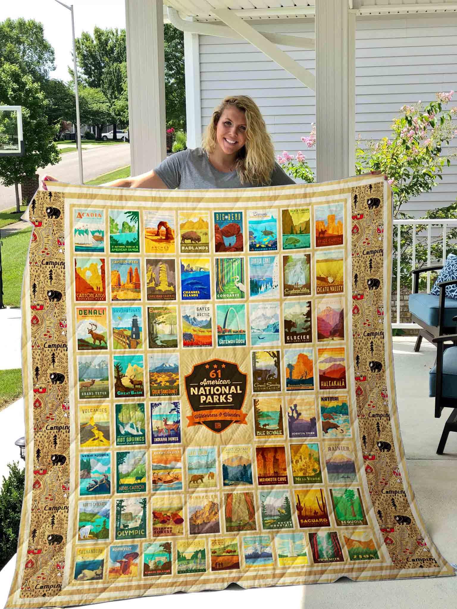 American National Park Quilt Blanket 03 American National Parks National Parks Quilt Piecing