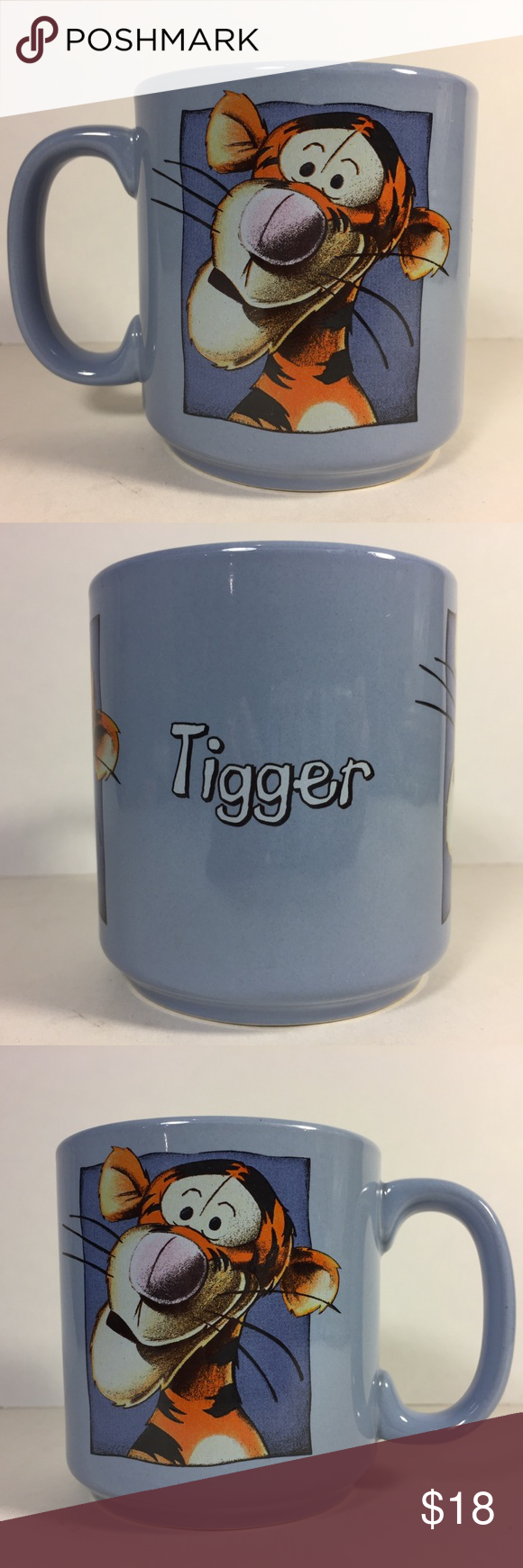 Vintage Tigger Winnie the Pooh Disney Coffee Mug Gently loved. No cracks, chips, or crazing. Smoke free. Ships carefully packaged and boxed immediately. Let me know if you have any questions.  Great gift for mom, dad, sister, brother, Christmas, Halloween, Birthday, and Thanksgiving. Disney Kitchen Coffee & Tea Accessories #disneycoffeemugs