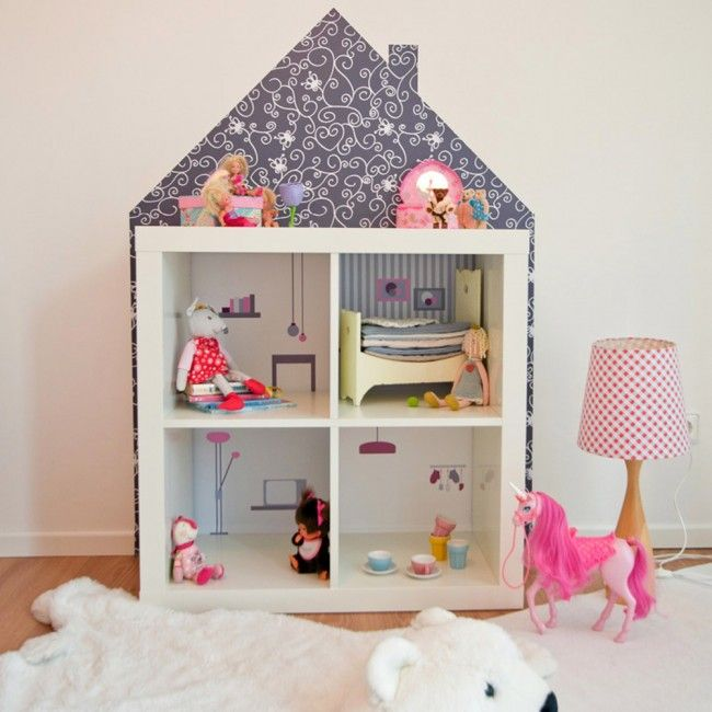 wandfolie m bel villa f r puppenhaus ikea kallax regal baby room. Black Bedroom Furniture Sets. Home Design Ideas