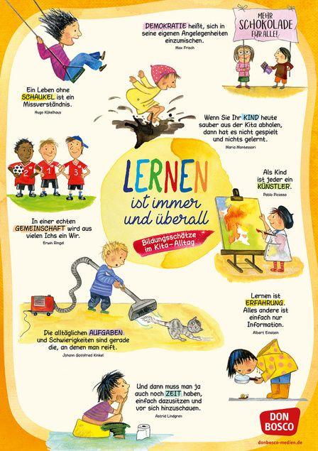 Lernen ist immer und überall! Bildungsschätze im Kita-Alltag: DIN A1-Plakat für Krippe, Kindergarten und Kita | Offizieller Shop des Don Bosco Verlags #kitaräume
