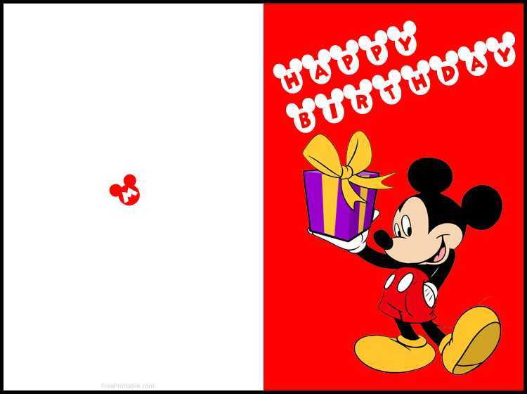 graphic relating to Disney Birthday Cards Printable identified as Pin by means of Rebeca Huescar upon Mickey Totally free printable birthday