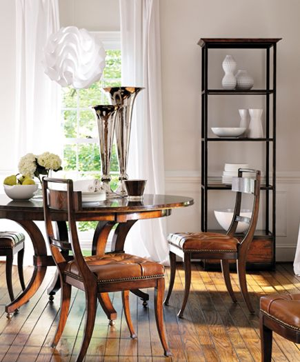Dining Room Featuring Henredo Acquisitions Warren Table And Hanover Chairs Henredon Interior Design Showroom