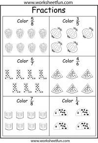 Color Fractions Fractions Fractions Worksheets Christmas Math Worksheets