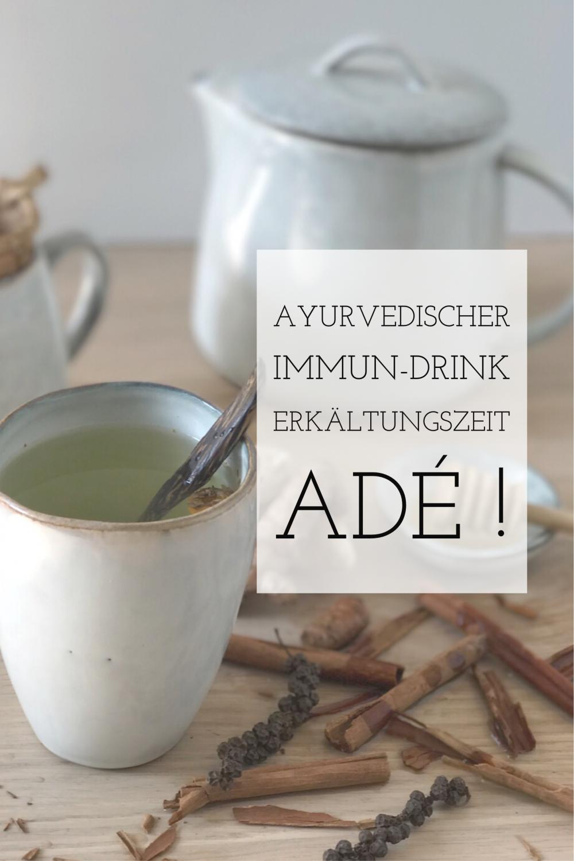 Ayurvedischer Immun-Drink, eine Erkältungstee der wunderbar hilft ! #butterbierrezept