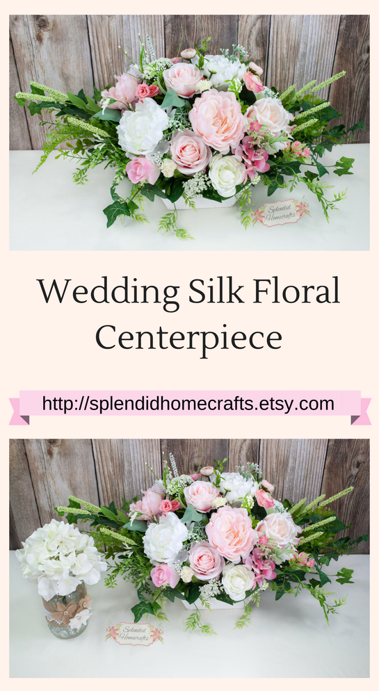 Wedding Floral Arrangement Wedding Centerpiece Silk Floral