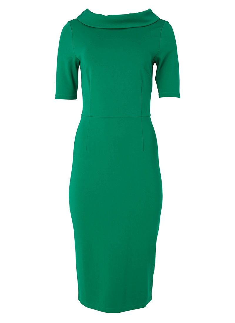 60s green dress  The Alma green pencil dress is the perfect vintageinspired occasion