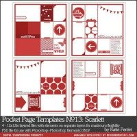 Pocket Pages Layered Templates No. 13: Scarlett