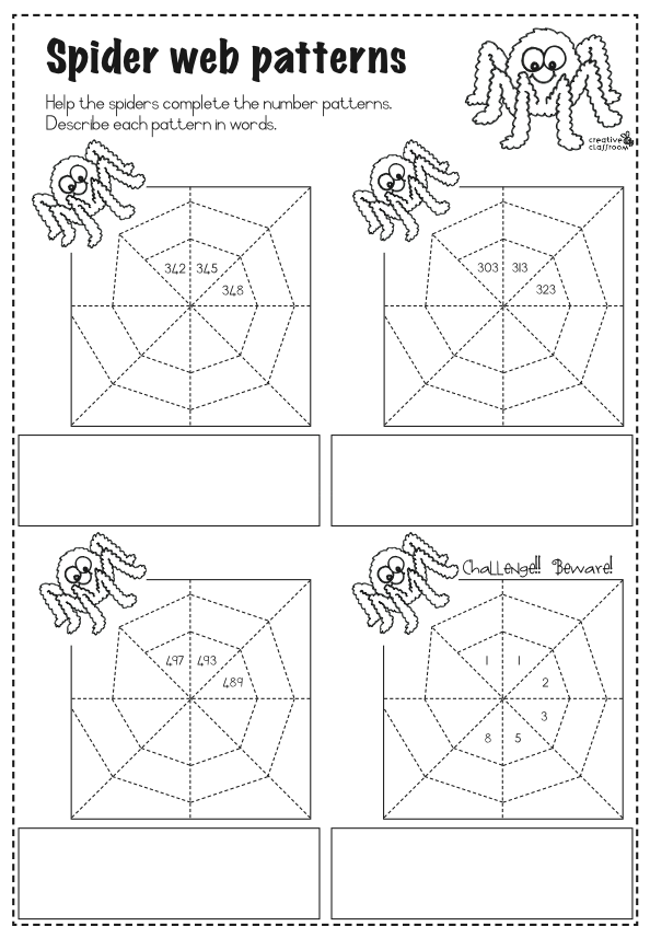 math worksheet : 1000 images about spiders on pinterest  spider spider webs and  : Multiplication Patterns Worksheets