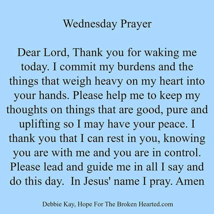 Wednesday Prayer Images